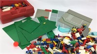 Large Lot Mixed Legos, Case, Characters