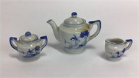 Japanese Windmill Porcelain Tea Set