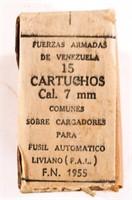 FN VENEZUELAN 7mm AMMUNITION CRATE 800+ ROUNDS