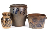 Rare Shenandoah Valley stoneware, from a large selection of American folk pottery