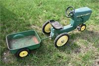 Rare Ertl John Deere Pedal Tractor & Trailer