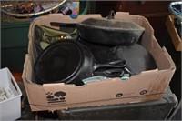 Boxes Castiron Pans, & More!!