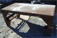 Iron table cart