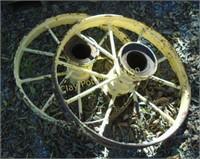 Antique wagon wheels