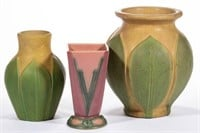 Selection of American art pottery, including Roseville