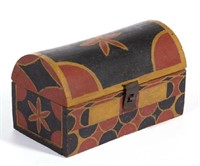 Fine paint-decorated diminutive dome-top box from the Shirkey estate