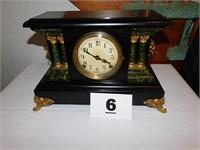COLUMN FRONT MANTEL CLOCK