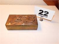 TRINKET BOX W/BRASS LID