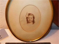 OLD FRAME AND EARLY GIRL PICTURE