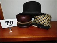 (3) VINTAGE HATS-(2) LADIES & (1 ) MANS