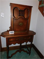 TWO PC TABLE W/CABINET