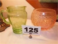 (2) PCS DEPRESSION STYLE GLASS