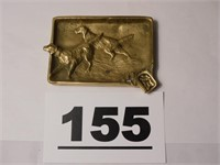 VIRGINIA METAL CRAFTERS 3-2 SETTER BRASS ASH TRAY