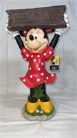 Disney Minnie Mouse solar Welcome garden statue