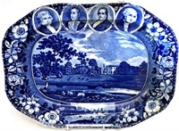 One of the finest assemblages of Staffordshire transferware American Historical views to ever appear on the market, the Routson Collection includes a wide variety of forms, from cup plates to covered tureens, many being in extremely rare patterns and/or forms, with most pieces retaining longstanding collection provenances.