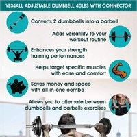 Yes4All Adjustable Dumbbells