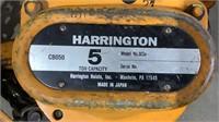 Harrington 5 Ton Chain Hoist