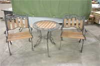 Wrought Iron Patio Table w/(2) Chairs