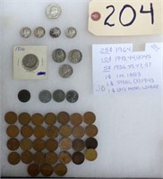 SILVER COINS, GOLD & SILVER JEWELRY, COLLECTABLES, FURNITURE