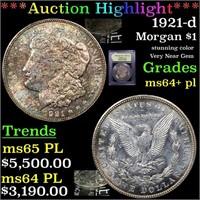 *Highlight* 1921-d Morgan $1 Graded Choice Unc+ PL