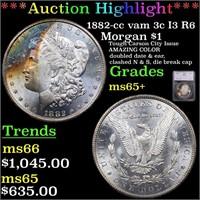 *Highlight* 1882-cc vam 3c I3 R6 Morgan $1 Graded