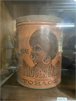 pre-bigger nigger hair Tobacco can with lid