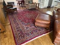 "Wool Area Rug w/ Pad- Living Room 151"" x 118"""