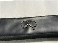 Set of 14K Matching Diamond Wedding Rings