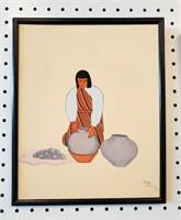1936 Indian Paintings Jose Toledo Jemez Pueblo