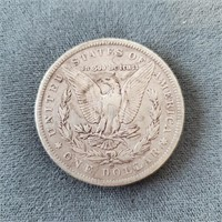 1885-O & 1888-O US Morgan Silver Dollar Coins