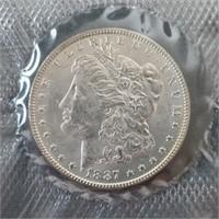 US 1887-P Morgan Silver Dollar GSA