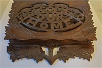 Victorian Welcome To Our Home Wall Magazine Rack