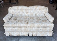 Curved Contemporary Loveseat