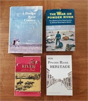 4 BOOKS About Powder River Wyoming Let 'Er Buck