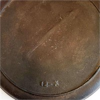 """19th C Cast Iron 13"""" Hanging Griddle With Gatemark"""