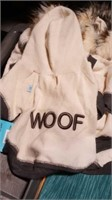 "White Woof jacket with hood XS=8"" Reg $30"