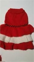 "Knit red & white dress M= 14"""