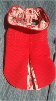"Red floral coat XS=10""  Reg $46"