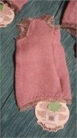 "Italian handmade wool mauve top XS s=8.5"" reg$105"