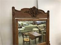 Oak dresser with mirror