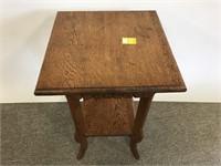 Antique oak lamp table
