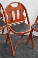 3-SOLID KUMFORT Louis Rastetter Wood Chairs