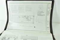 (2) 1980's California House Plans in Zippered Case