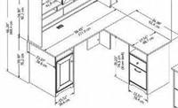 """Bush Cabot Collection L-Shaped Desk 60"""""""