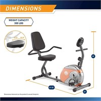 Marcy Recumbent Exercise Bike with Resistance