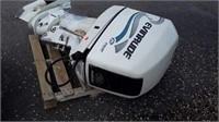 Outboard Motor, Evinrude 225. Unknown running