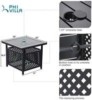 PHI VILLA Outdoor Patio Umbrella Side Table Base