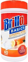 Lot of 12 Brillo Multi Surface Citrus Wipes