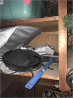 Tote and camping supplies