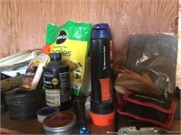 Shelf full of supplies